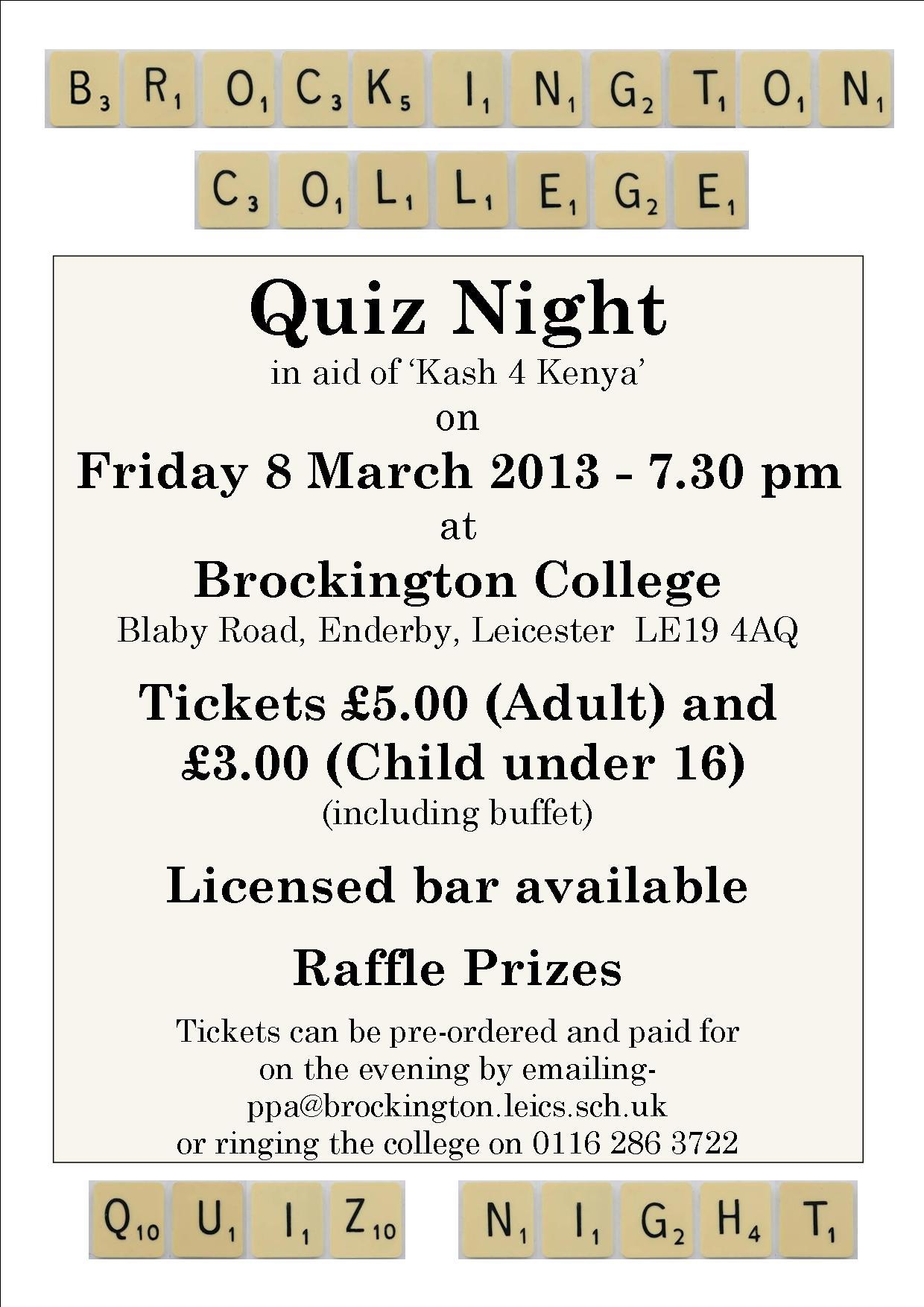 Quiz Night Mar 13