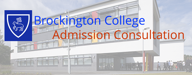 Brockington College is seeking your views on the changes proposed on the link below. Our consultation will run for 8 weeks from Monday 9 December 2013 until Friday 28 February...