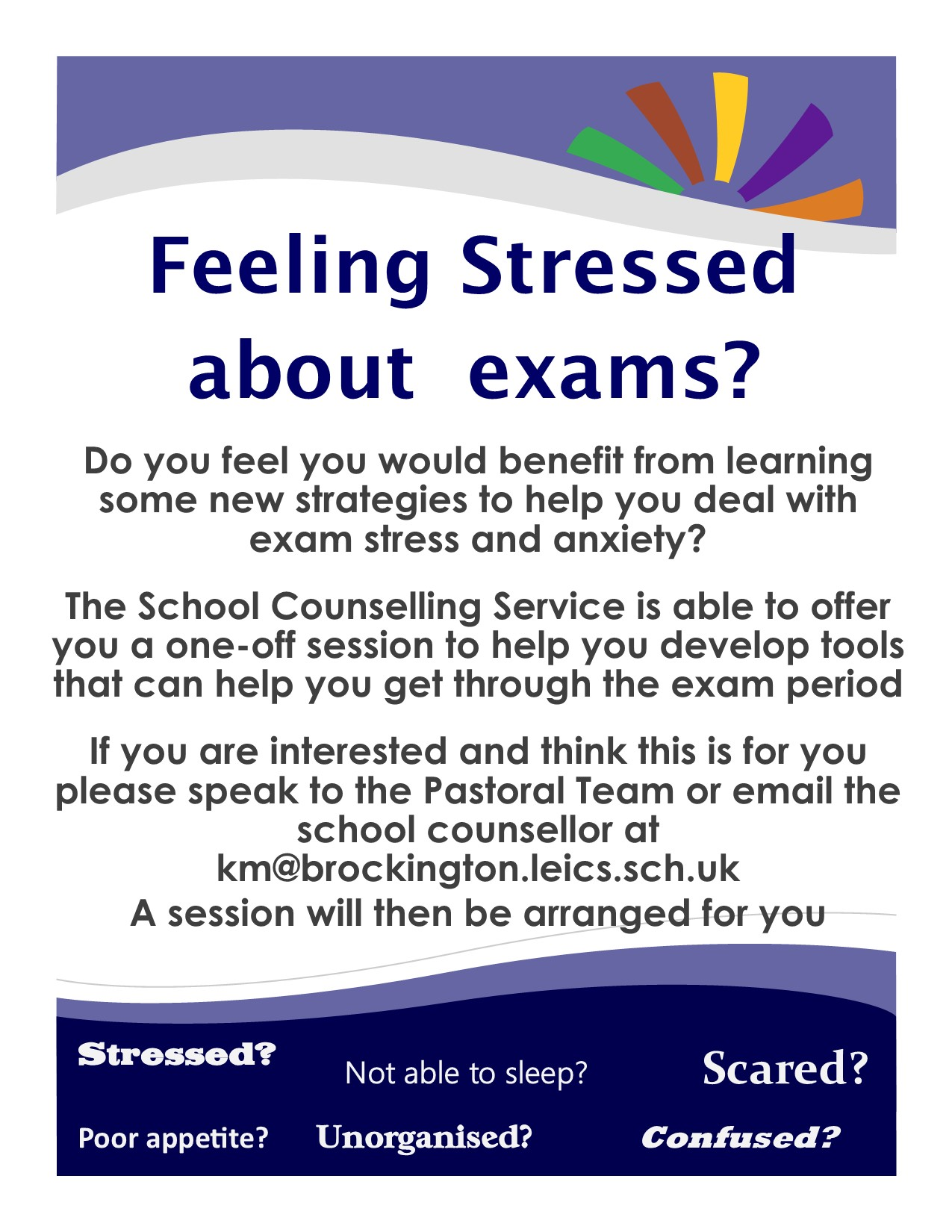 exam stress poster
