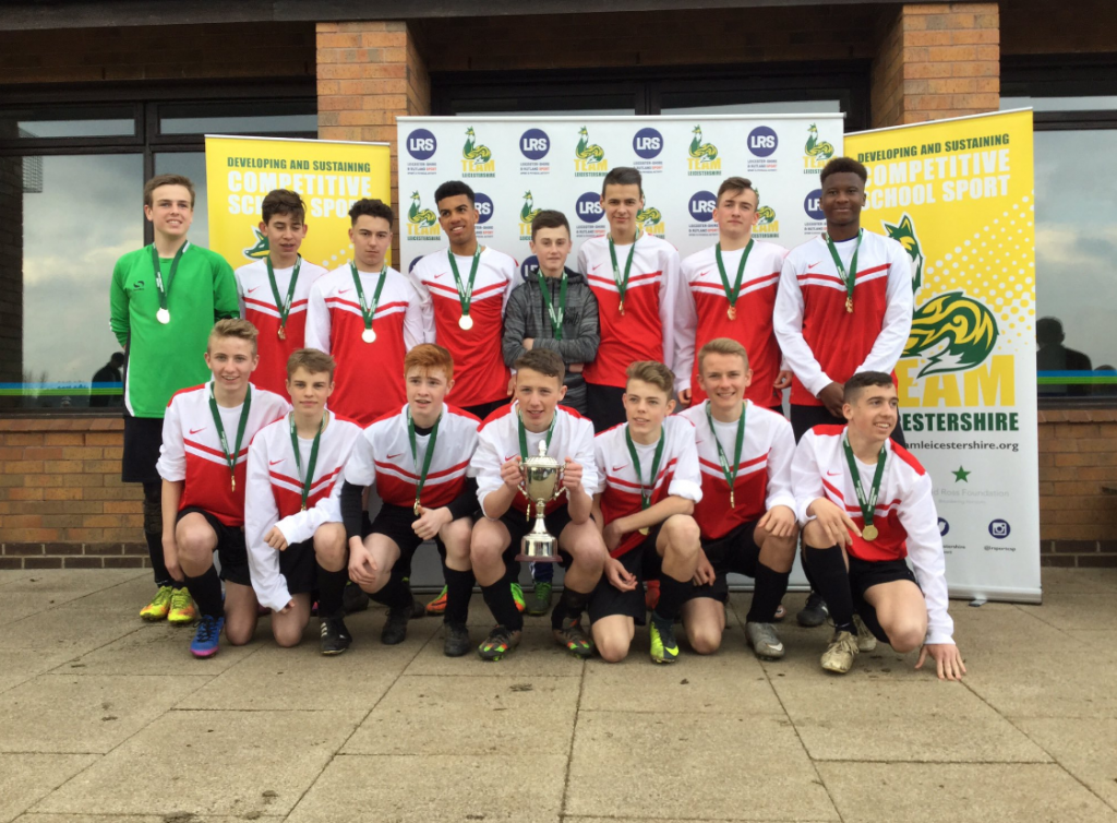 Year 10 boys Football Team win the County and League Cups
